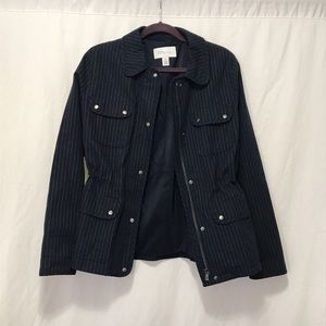 Nordstrom Signature Jackets & Coats - Navy Nordstrom Signature Pinstripe Utility Jacket